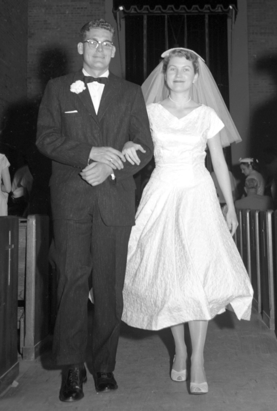 McGuire, Patricia ca 1957 marriage to Charles Richard Strong, Stillwater, Oklahoma 3 of 10