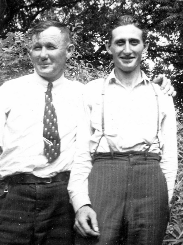 Strong, Rolla, Early to mid 1940's, with his nephew, Robert